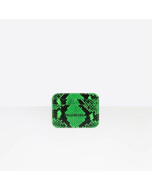 Balenciaga Green Cash Card Holder