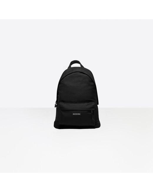 Balenciaga Black Explorer Backpack for men