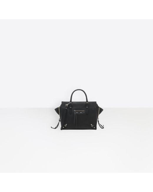 Balenciaga Black Papier Mini A4 Zip Around
