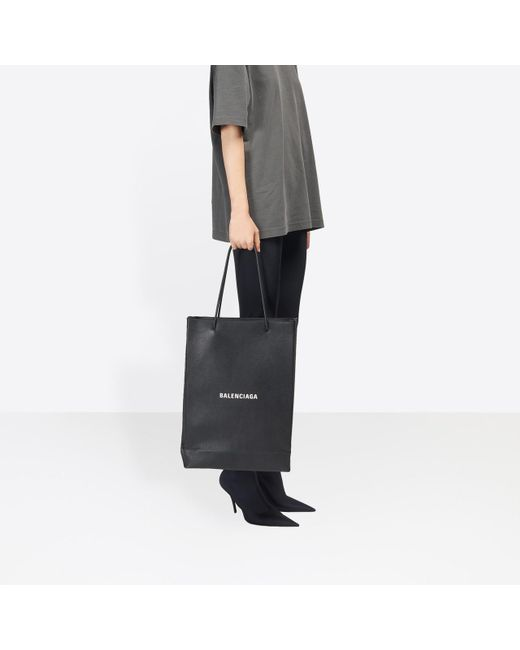 ee19723b7a ... Balenciaga - Black Shopping Bag North-south M - Lyst ...