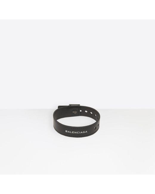 55a3acea1b3e0 Balenciaga - Black Party Bracelet for Men - Lyst ...