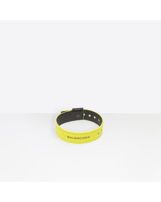 Balenciaga - Yellow Party Bracelet for Men - Lyst