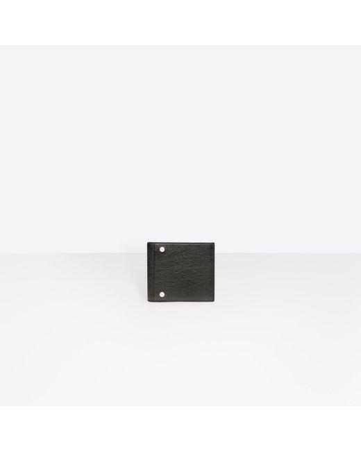 Balenciaga - Black Square Wallet for Men - Lyst