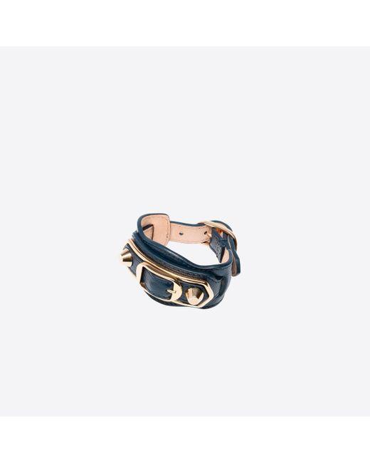 Balenciaga | Gray Classic Metallic Edge Bracelet | Lyst
