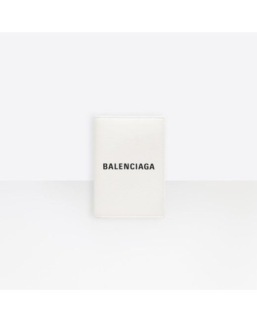 Balenciaga White Everyday Passport Holder for men