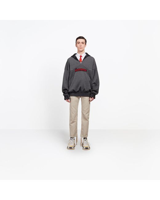 Balenciaga | Black Zipped High Neck Sweater for Men | Lyst