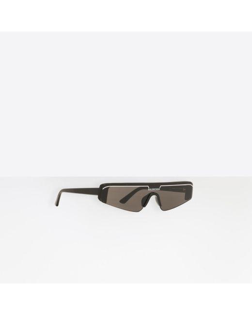 Gafas de sol Ski Rectangle Balenciaga de hombre de color Black
