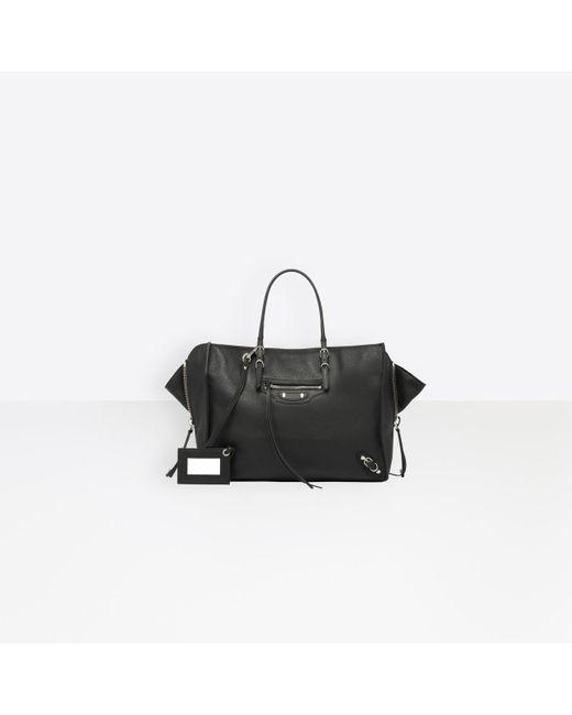 Balenciaga Black Papier B4 Zip Around