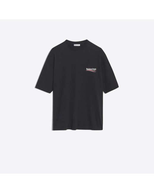 Balenciaga Black Oversized Logo Printed T-shirt