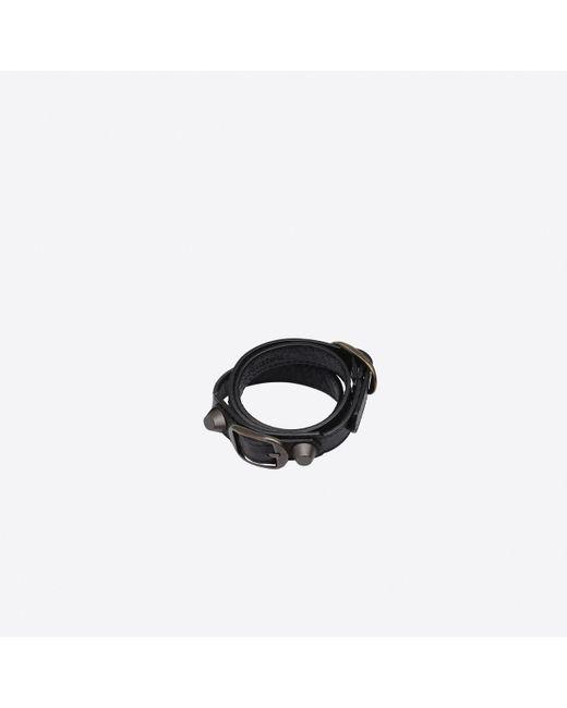 44a2853bbc8fd Balenciaga Classic Bracelet Triple Tour in Black - Lyst