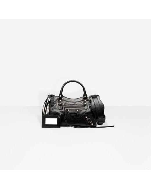 Balenciaga Black Mini City Leather Bag