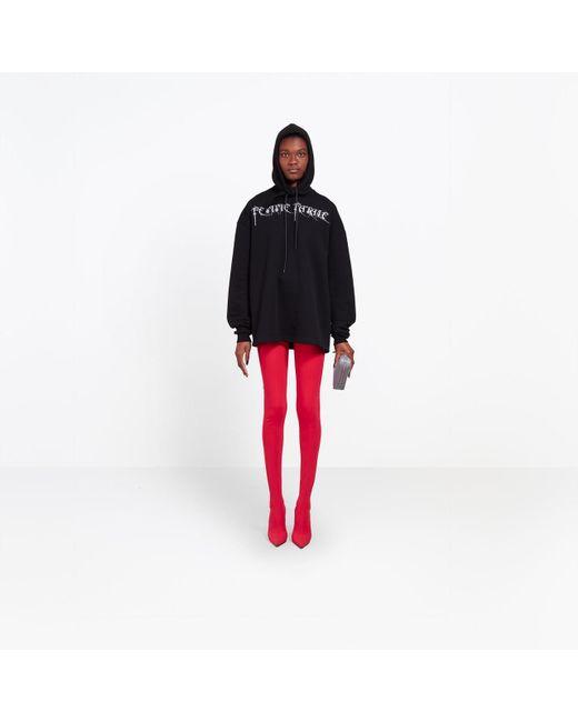 Balenciaga - Black Femme Fatale Headscarf Hoody - Lyst