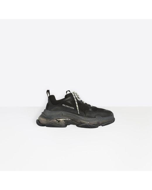 Sneaker Triple S Clear Sole Balenciaga pour homme en coloris Black
