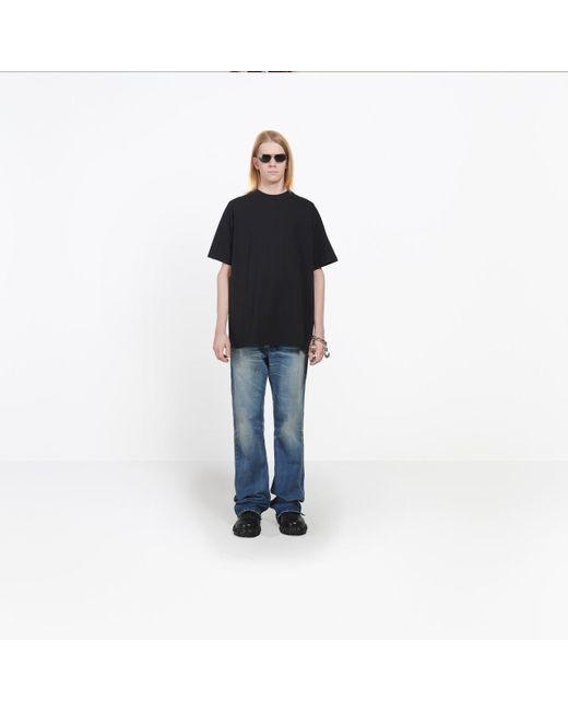 424e383c3c85 ... Lyst Balenciaga - Black T-shirt 'sinners' for Men ...