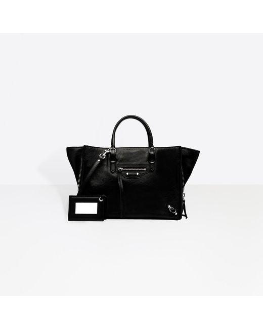 Balenciaga Black Papier A6 Zip Around