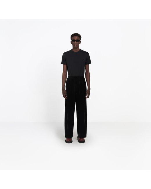 4502b38a626772 ... Balenciaga - Black Velvet Tracksuit Pants for Men - Lyst ...