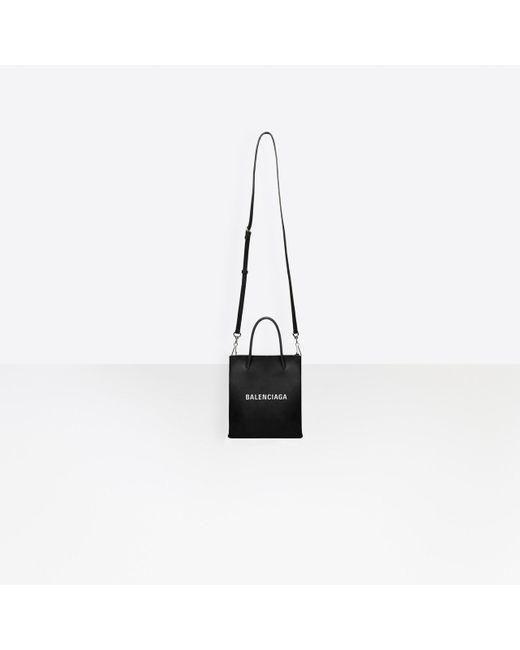 Intención átomo Rancio  Balenciaga Leather Shopping Xxs North South Tote Bag in Black - Lyst
