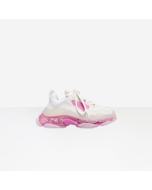 Sneaker Triple S Clear Sole Balenciaga en coloris Pink