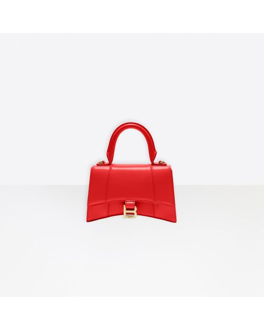 Balenciaga Red Hourglass Small Top Handle Bag
