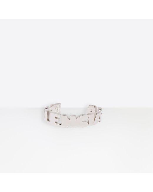Balenciaga Multicolor Typo Bracelet