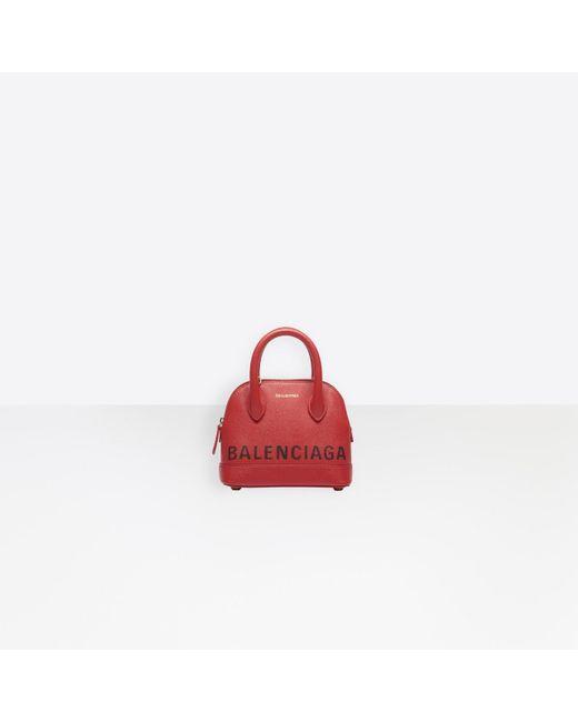 Balenciaga Red Ville Top Handle Xxs