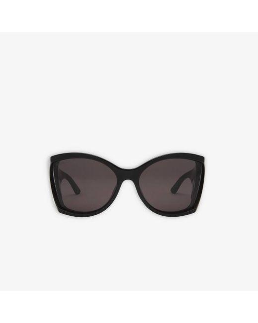 Balenciaga Black Void Butterfly Sunglasses