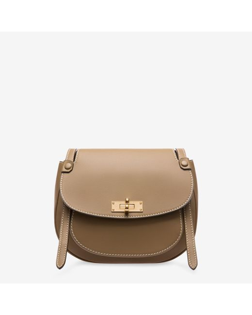 Bally - Natural B Turn Saddle Bag Medium - Lyst