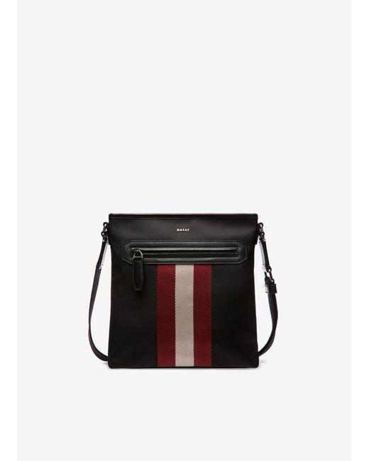 Bally Black Currios Nylon Crossbody Bag for men