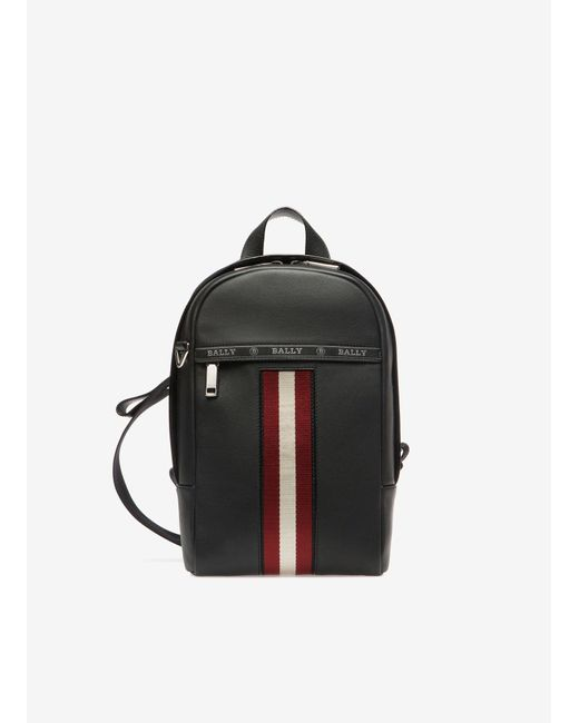 Bally Black High Point Leather Sling Backpack for men