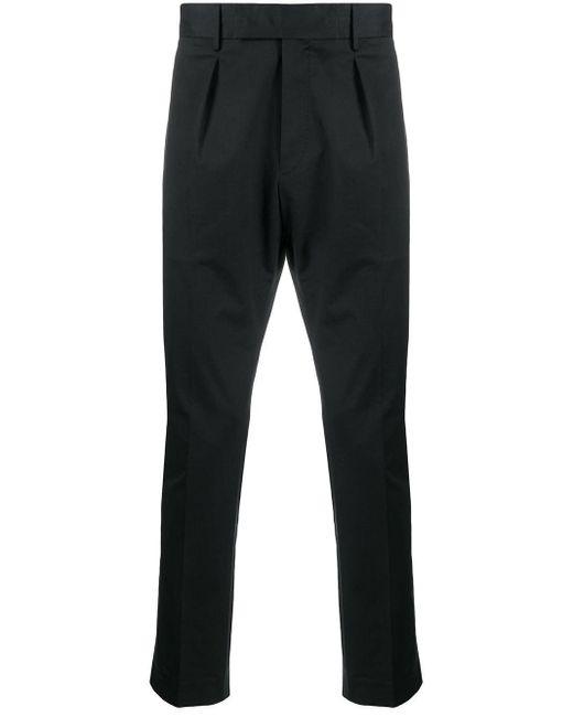 PT01 Five Pockets Black Cotton Trousers for men