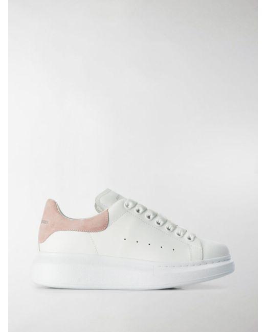 Alexander McQueen Pink Leather Sneakers