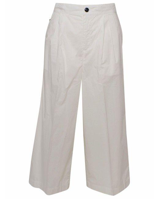 Woolrich Gray Pantalone Popeline Bianco