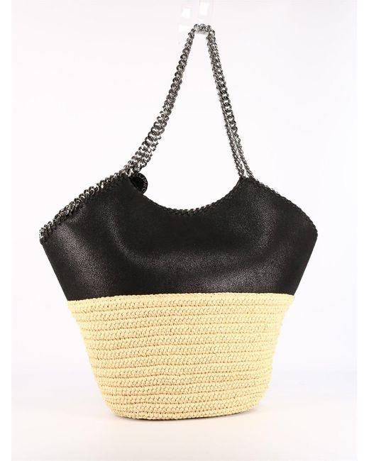 Stella McCartney Black Falabella Medium Tote Bag