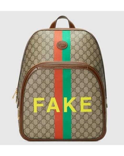 Gucci Natural Printed Backpack for men