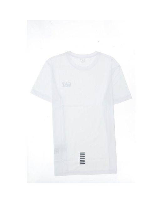 EA7 White T-shirts & Vests for men