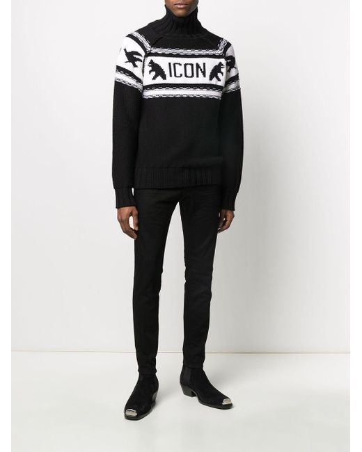 DSquared² Sweaters Black for men