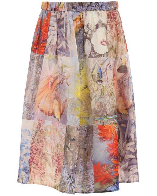 Zimmermann Multicolor Botanica Midi Skirt