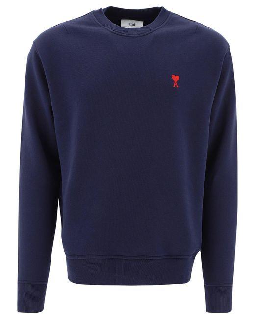 """AMI Blue """"ami De Coeur"""" Sweatshirt for men"""