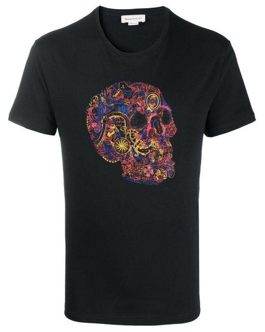 Alexander McQueen Skull Print T-shirt Black for men