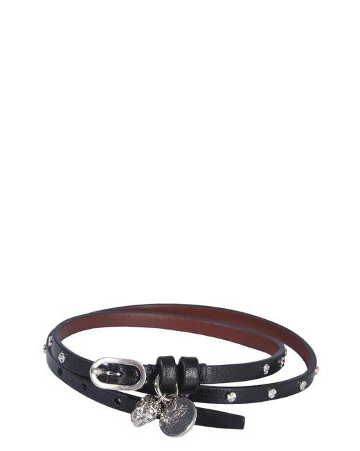 Alexander McQueen Black Skull Pendant Bracelet