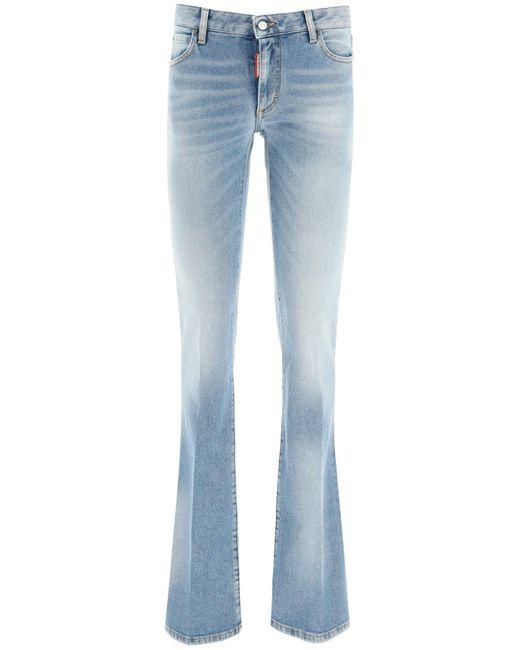 DSquared² Blue Medium Waist Flare Jeans