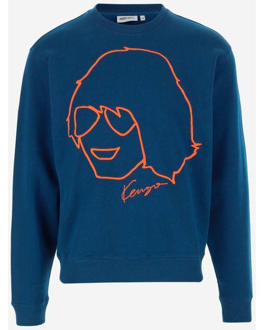 KENZO Blue Sweaters for men