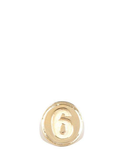 MM6 by Maison Martin Margiela Metallic Chevalier 6 Ring