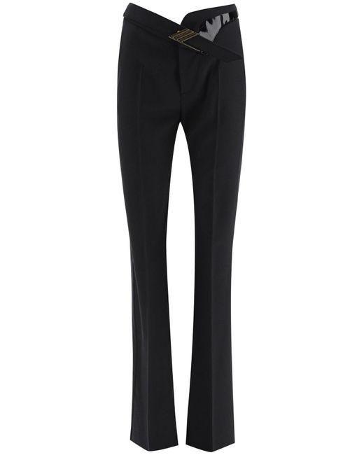 The Attico Black Straight Leg Tailored Pants