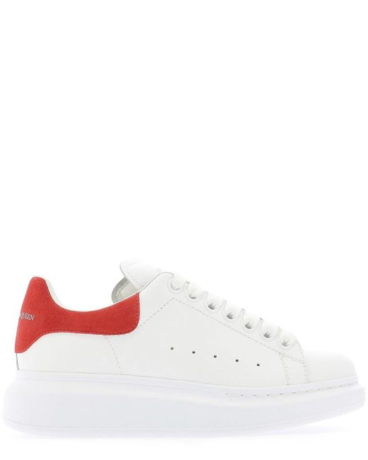 Alexander McQueen White Oversized Suede And Leather Sneakers