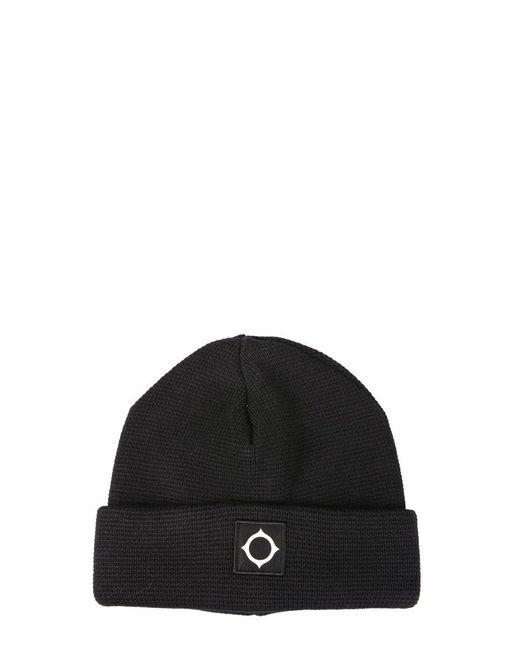 "Ma.strum Black ""milano"" Knit Hat for men"