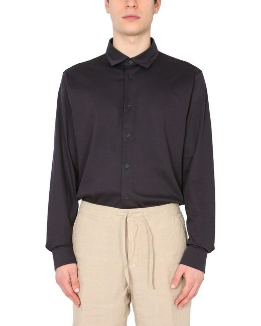 Z Zegna Brown Regular Fit Shirt for men