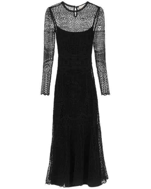 Alexander McQueen Black Long Lace Dress