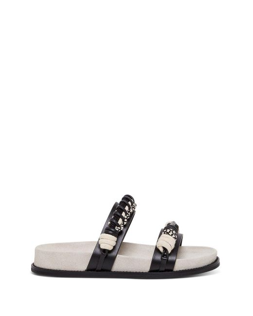 Philosophy Di Lorenzo Serafini Black Moon Leather Sandals