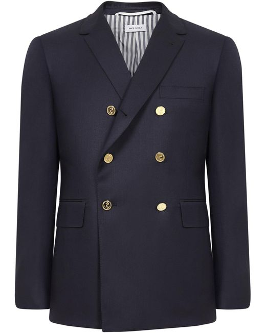 Thom Browne Jackets Blue for men